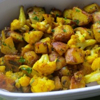 Potato and Cauliflower Stir-Fry (Aloo Gobi)