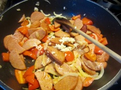 Golden Sella Basmati Rice with Red Kidney Beans and Smoked Sausage myfavouritepastime.com