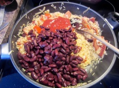 Golden Sella Basmati Rice with Red Kidney Beans and Smoked Sausagemyfavouritepastime.com