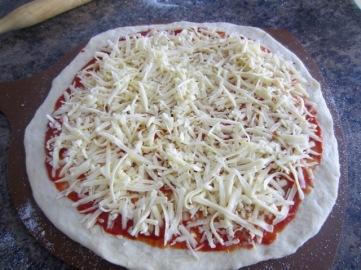 Prosciutto Feta and Green Olive Pizza myfavouritepastime.com