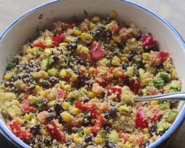Black Bean and Couscous Salad myfavoruritepastime.com
