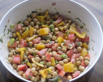 Chickpea Salad with Tahini Dressing myfavouritepastime.com
