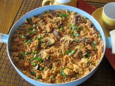 Basmati Rice with Chicken and Mushrooms myfavouritepastime.com