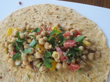 Chickpea Wrap with Tahini Dressing myfavouritepastime.com