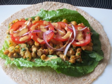 Spicy Buffalo Chickpea Wraps myfavouritepastime.com