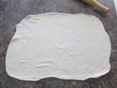 Roll or stretch the dough-Smitten Kitchen Potato Pizza mufavouritepastime.com